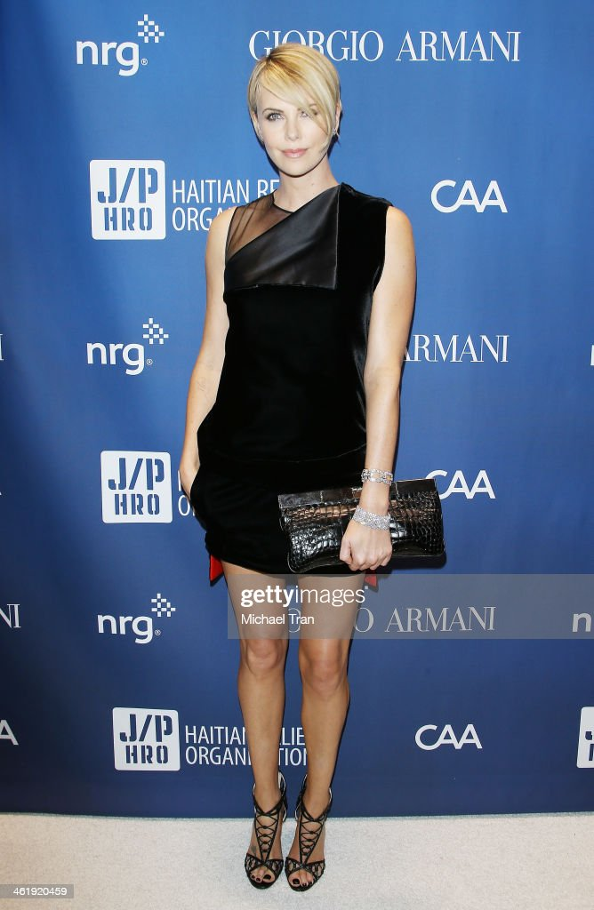 Charlize Theron arrives at the 3rd Annual Sean Penn Friends Help Haiti Home Gala benefiting J/P HRO presented By Giorgio Armani held at Montage...