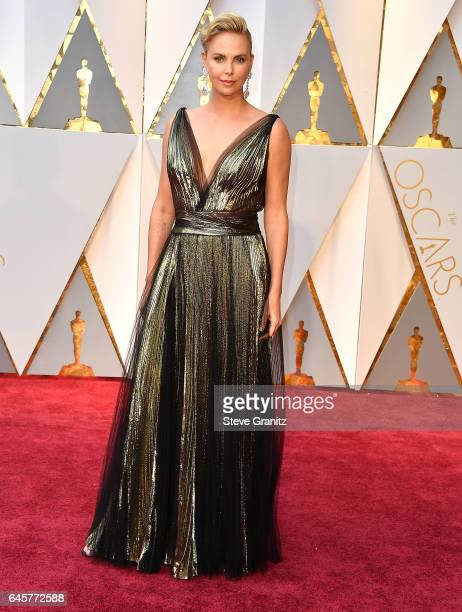 Charlize Theron arrives at the 89th Annual Academy Awards at Hollywood Highland Center on February 26 2017 in Hollywood California