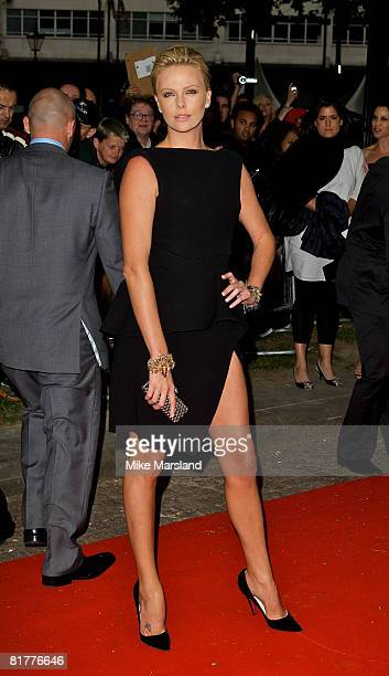 Charlize Theron arrives at the UK Gala Premiere of Hancock on June 18 2008 in London England