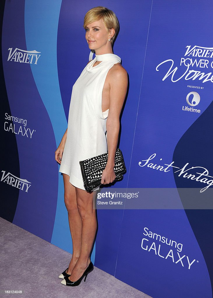 Charlize Theron arrives at the Variety's 5th Annual Power Of Women Event at the Beverly Wilshire Four Seasons Hotel on October 4, 2013 in Beverly Hills, California.