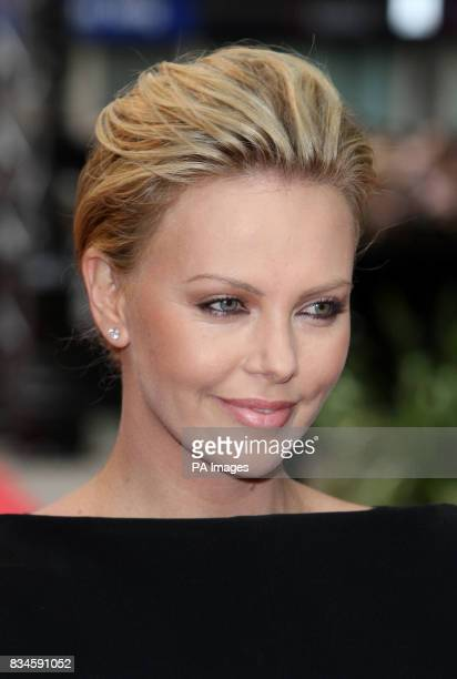 Charlize Theron arrives for the UK Film Premiere of Hancock at the Vue West End London