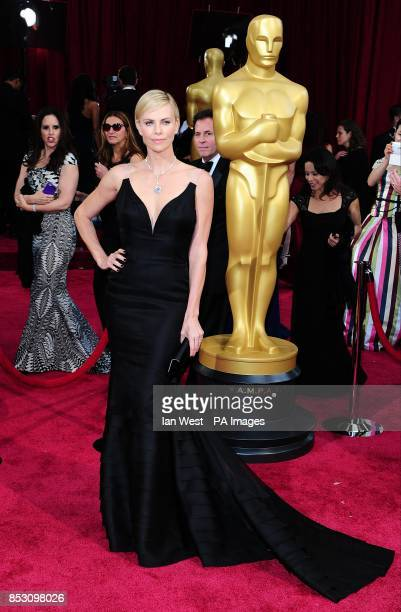 Charlize Theron arriving at the 86th Academy Awards held at the Dolby Theatre in Hollywood Los Angeles CA USA March 2 2014