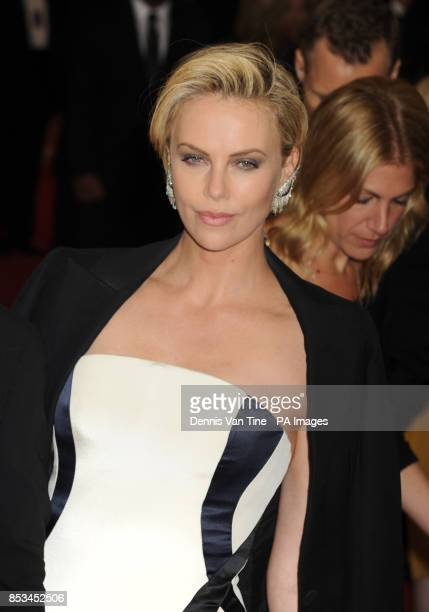 Charlize Theron arriving at the Met Gala event at the Metropolitan Museum of Art in New York USA