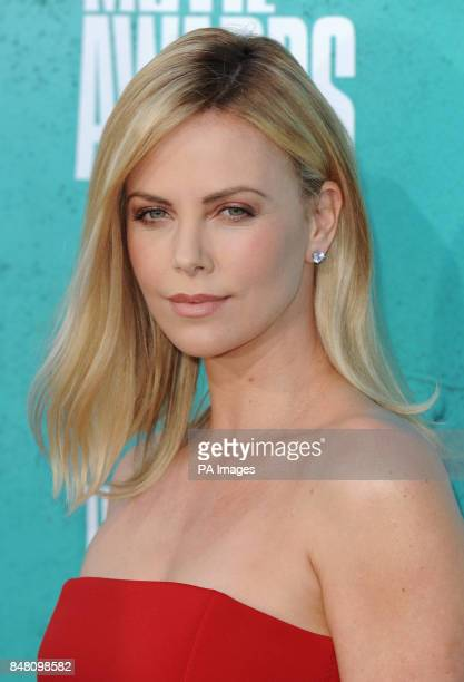 Charlize Theron arriving at the MTV movie awards 2012 Universal City Los Angeles