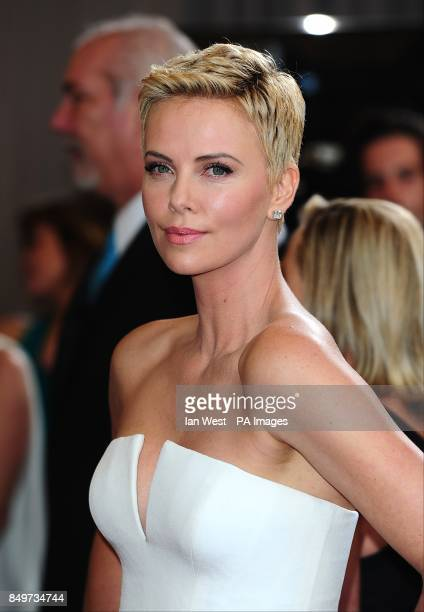 Charlize Theron arriving for the 85th Academy Awards at the Dolby Theatre Los Angeles