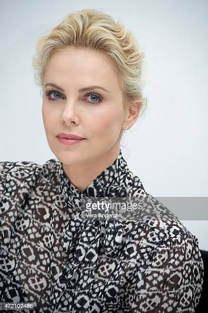 Charlize Theron at the 'Mad Max Fury Road' Press Conference at Siren Studios on May 2 2015 in Hollywood California