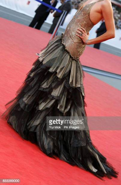 Charlize Theron at the premiere of 'In the Valley Of Elah' at the Venice Film Festival in Italy