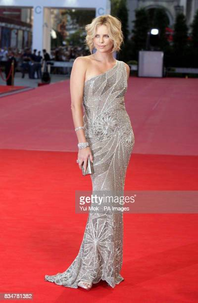 Charlize Theron at the premiere of the film 'The Burning Plain' at the Palazzo del Cinema on Venice Lido Italy during the 65th Venice Film Festival