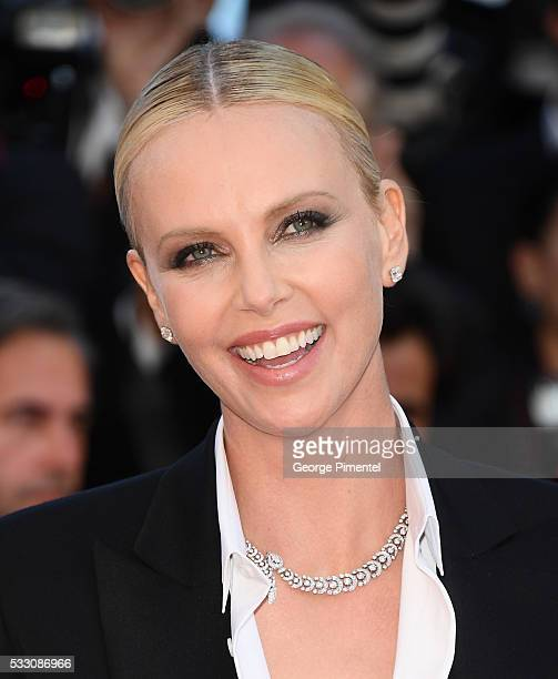 Charlize Theron attend 'The Last Face' Premiere during the 69th annual Cannes Film Festival at the Palais des Festivals on May 20 2016 in Cannes