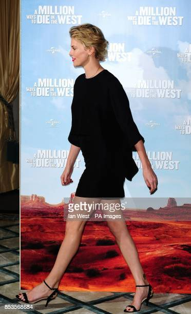 Charlize Theron attending a photocall for the film A Million Ways to Die in the West at Claridge's Hotel in London
