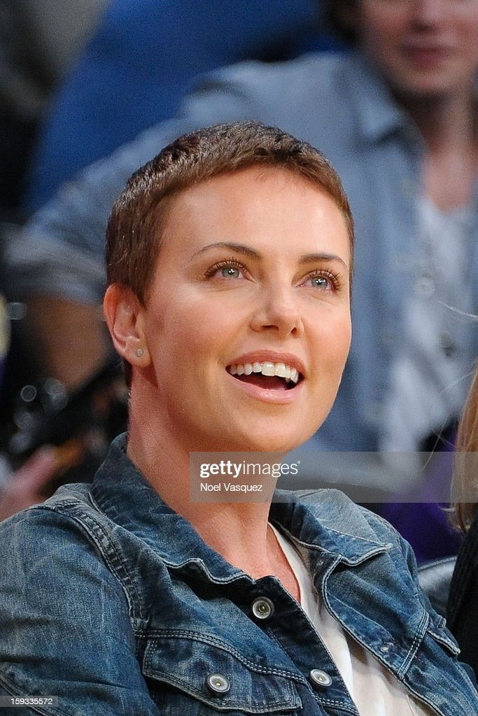 <a gi-track='captionPersonalityLinkClicked' href=/galleries/search?phrase=Charlize+Theron&family=editorial&specificpeople=171250 ng-click='$event.stopPropagation()'>Charlize Theron</a> attends a basketball game between the Oklahoma City Thunder and the Los Angeles Lakers at Staples Center on January 11, 2013 in Los Angeles, California.