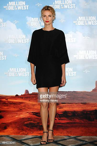 Charlize Theron attends a photocall to promote 'A Million Ways To Die In The West' on May 27 2014 in London England