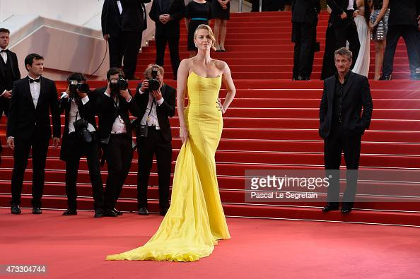 Charlize Theron attends Premiere of 'Mad Max Fury Road' during the 68th annual Cannes Film Festival on May 14 2015 in Cannes France
