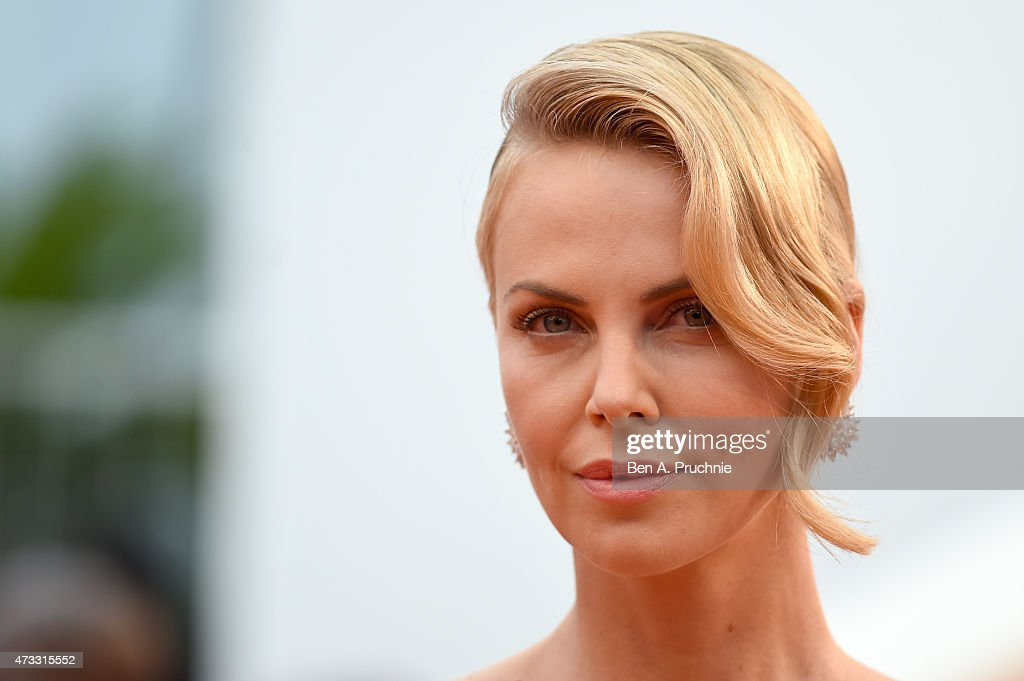 <a gi-track='captionPersonalityLinkClicked' href=/galleries/search?phrase=Charlize+Theron&family=editorial&specificpeople=171250 ng-click='$event.stopPropagation()'>Charlize Theron</a> attends Premiere of 'Mad Max: Fury Road' during the 68th annual Cannes Film Festival on May 14, 2015 in Cannes, France.