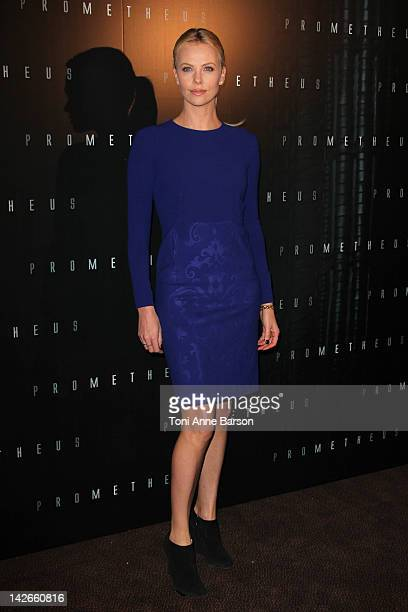 Charlize Theron attends 'Prometheus' photo call at Cinema Gaumont Marignan on April 11 2012 in Paris France