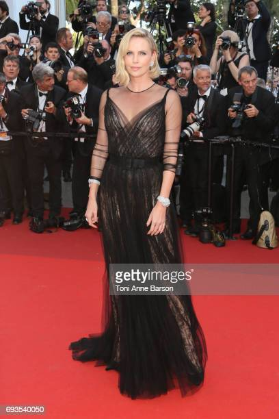 Charlize Theron attends the 70th anniversary event during the 70th annual Cannes Film Festival at Palais des Festivals on May 23 2017 in Cannes France