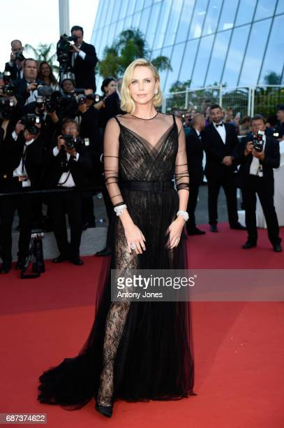 Charlize Theron attends the 70th Anniversary of the 70th annual Cannes Film Festival at Palais des Festivals on May 23 2017 in Cannes France