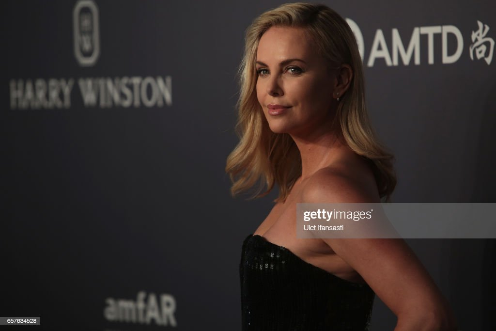 Charlize Theron attends the amfAR Hong Kong Gala at Shaw Studios on March 25, 2017 in Hong Kong, Hong Kong.