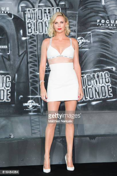 Charlize Theron attends the 'Atomic Blonde' World Premiere at Stage Theater on July 17 2017 in Berlin Germany