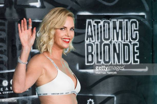 Charlize Theron attends the 'Atomic Blonde' World Premiere In Berlin at Stage Theater on July 17 2017 in Berlin Germany