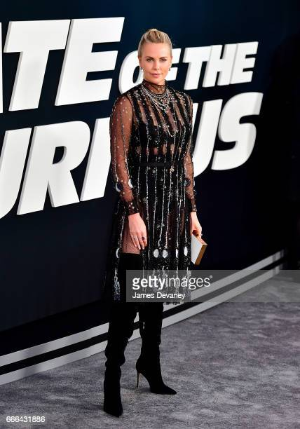 Charlize Theron attends 'The Fate Of The Furious' New York premiere at Radio City Music Hall on April 8 2017 in New York City