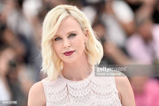 Charlize Theron attends 'The Last Face' Photocall during the 69th annual Cannes Film Festival at the Palais des Festivals on May 20 2016 in Cannes...