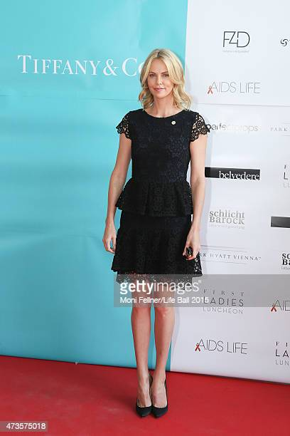 Charlize Theron attends the Life Ball 2015 first ladies lunch at Belvedere Palace on May 16 2015 in Vienna Austria The Life Ball an annual charity...
