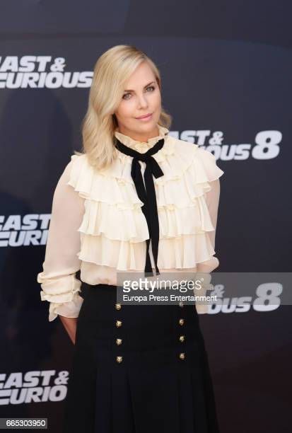 Charlize Theron attends the photocall for the film 'Fast Furious 8' at Villamagna hotel on April 6 2017 in Madrid Spain