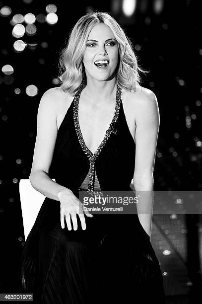 Charlize Theron attends the second night of the 65th Festival di Sanremo 2015 at TeatroAriston on February 11 2015 in Sanremo Italy