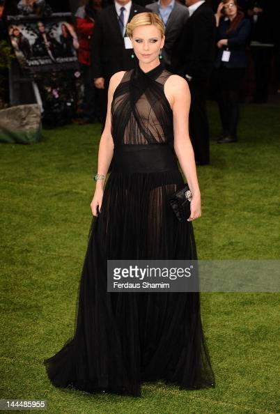 Charlize Theron attends the world premiere of Snow White and the Huntsman at Empire Leicester Square on May 14 2012 in London England