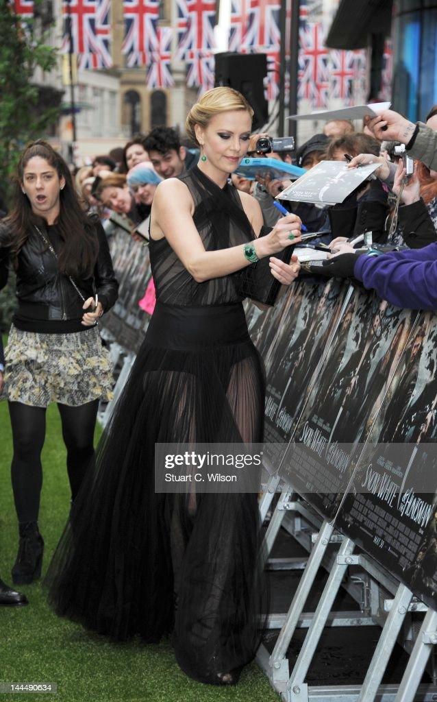 Charlize Theron attends the World Premiere of 'Snow White and The Huntsman' at Empire Leicester Square on May 14 2012 in London England