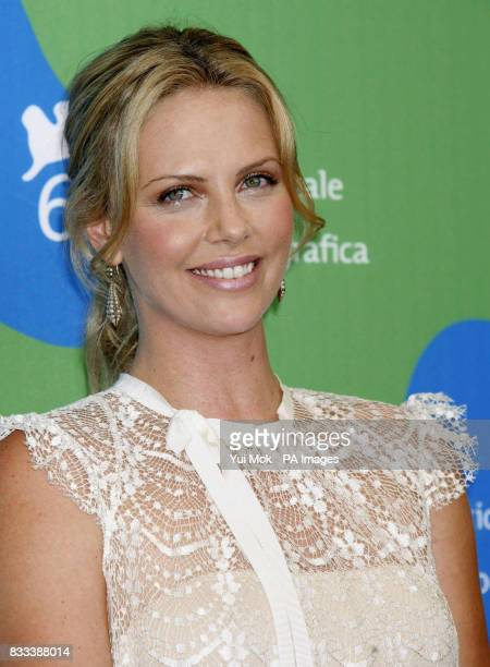 Charlize Theron during a photocall for her film 'In the Valley Of Elah' at the Venice Film Festival in Italy Saturday 1 September 2007