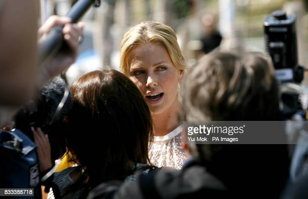 Charlize Theron during a photocall for the film 'In the Valley Of Elah' at the Venice Film Festival in Italy Saturday 1 September 2007