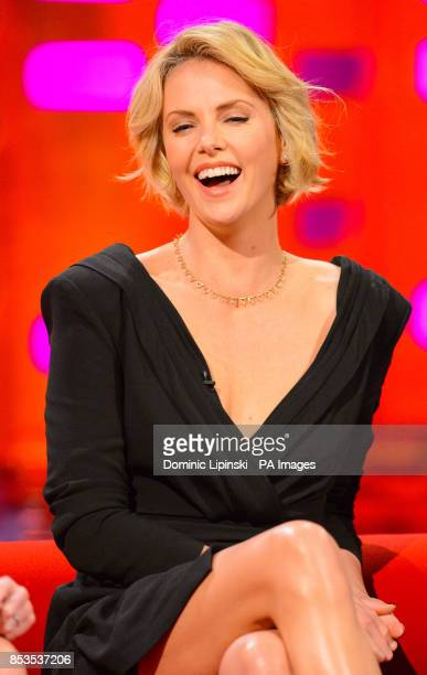 Charlize Theron during a recording of the Graham Norton Show at the London Studios in central London