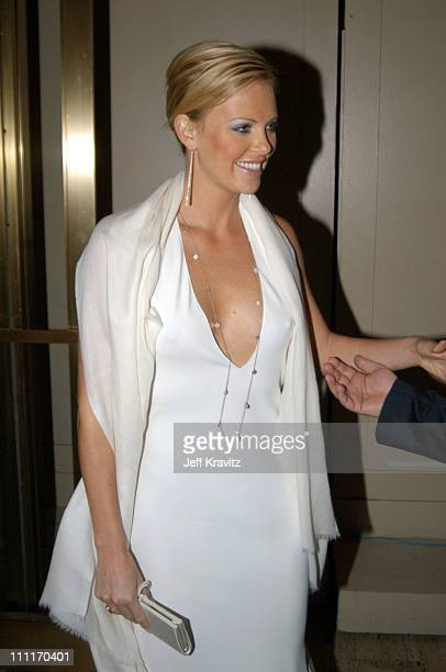 Charlize Theron during Spike TV Presents 2003 GQ Men of the Year Awards After Party at The Regent Wall Street in New York City New York United States
