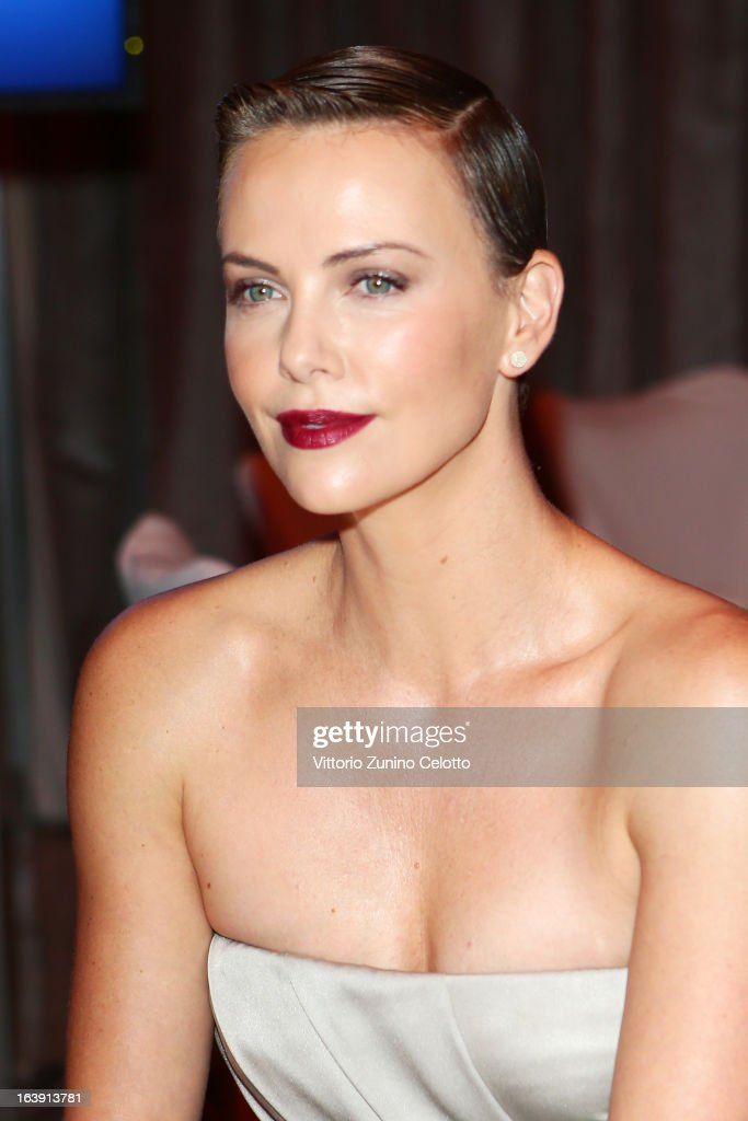 <a gi-track='captionPersonalityLinkClicked' href=/galleries/search?phrase=Charlize+Theron&family=editorial&specificpeople=171250 ng-click='$event.stopPropagation()'>Charlize Theron</a> during the Cinema For Peace Gala Ceremony at the 63rd Berlinale International Film Festival at the Waldorf Astoria Hotel on February 9, 2013 in Berlin, Germany.
