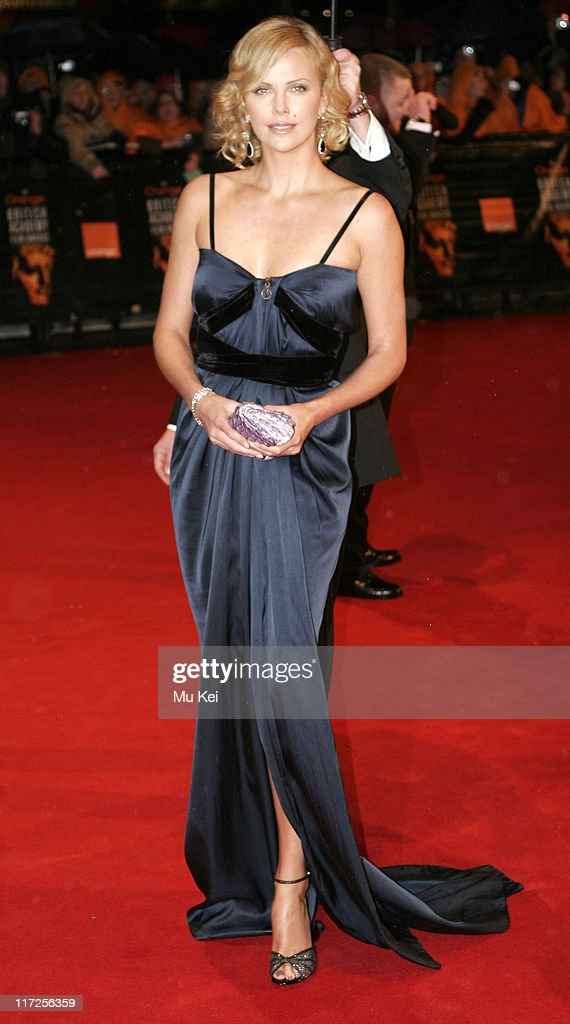 Charlize Theron during The Orange British Academy Film Awards 2006 - Arrivals at Odeon Leicester Square in London, Great Britain.