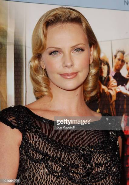 Charlize Theron during World Premiere of 'Monster' At The Closing Night of AFI Fest 2003 at The ArcLight Cinerama Dome in Hollywood California United...
