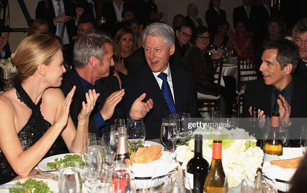Charlize Theron Founder and CEO of J/P Haitian Relief Organization Sean Penn Former President of the United States Bill Clinton and Ben Stiller...