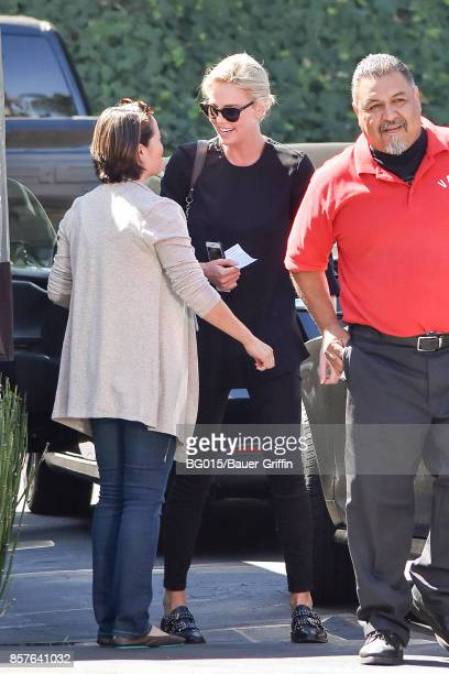 Charlize Theron is seen on October 04 2017 in Los Angeles California