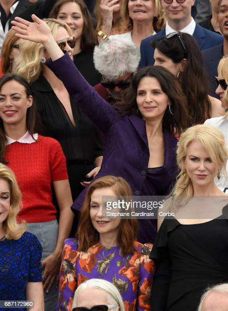 Charlize Theron Pedro Almodovar Berenice Bejo Juliette Binoche Catherine Deneuve Isabelle Huppert and Nicole Kidman attend the 70th Anniversary...