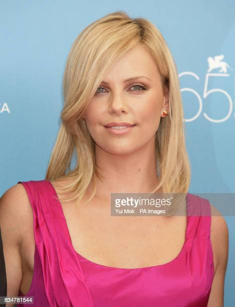 Charlize Theron poses during a photocall for the film 'The Burning Plain' at the Palazzo del Casino on Venice Lido Italy during the 65th Venice Film...
