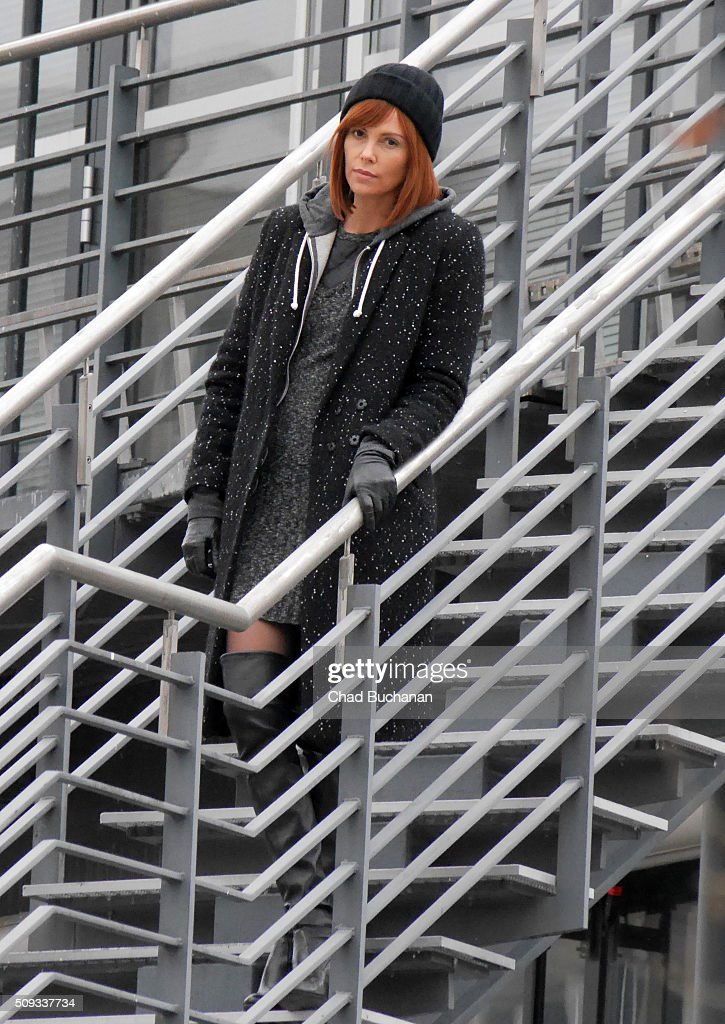 <a gi-track='captionPersonalityLinkClicked' href=/galleries/search?phrase=Charlize+Theron&family=editorial&specificpeople=171250 ng-click='$event.stopPropagation()'>Charlize Theron</a> sighted filming at the Berliner Fernsehturm on February 10, 2016 in Berlin, Germany.
