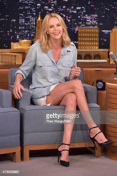 Charlize Theron Visits 'The Tonight Show Starring Jimmy Fallon' at Rockefeller Center on May 11 2015 in New York City