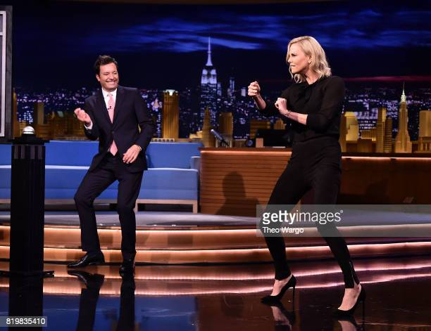 Charlize Theron Visits 'The Tonight Show Starring Jimmy Fallon' at Rockefeller Center on July 20 2017 in New York City