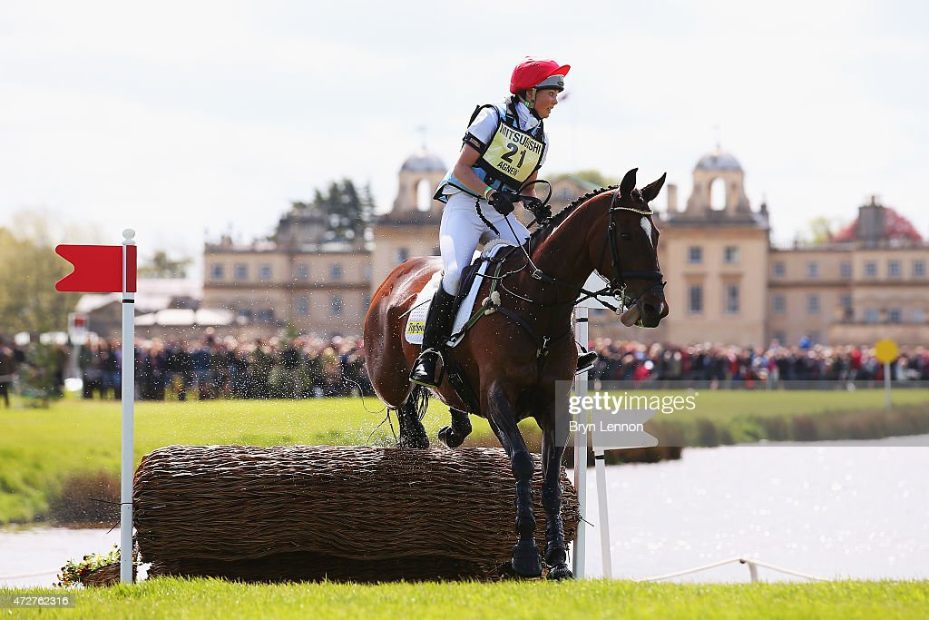 Charlotte Agnew of Great Britain rides Out of Africa Two during the CrossCountry Test at the Badminton Horse Trials 2015 on May 9 2015 in Badminton...