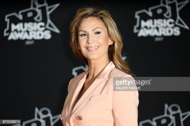 Charlotte Ben Daoud aka Vitaa poses upon her arrival to attend the 19th NRJ Music Awards at the Palais des Festivals in Cannes southeastern France on...