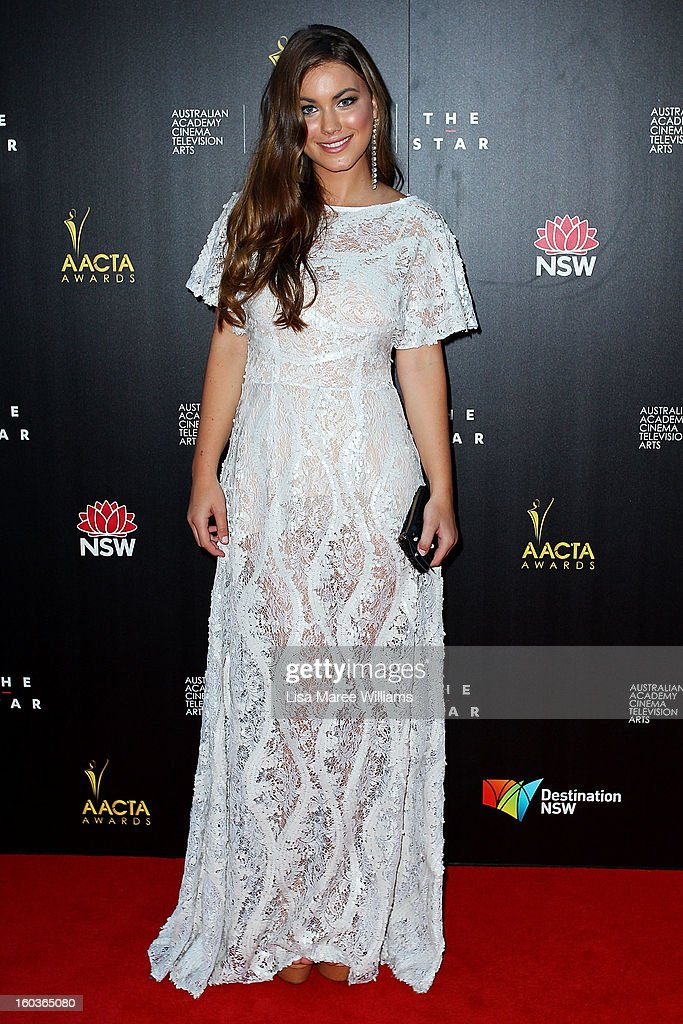 Charlotte Best arrives at the 2nd Annual AACTA Awards at The Star on January 30, 2013 in Sydney, Australia.