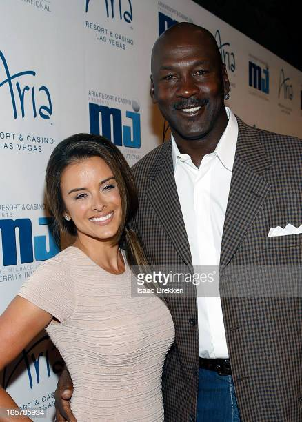 Charlotte Bobcats owner Michael Jordan and fiancee Yvette Prieto arrive at the 12th Annual Michael Jordan Celebrity Invitational Gala At ARIA Resort...