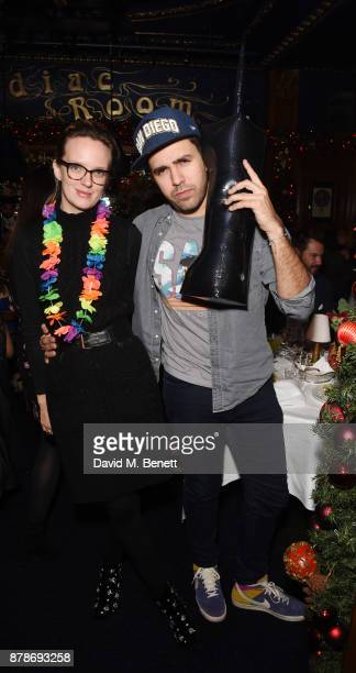 Charlotte Carroll and Diego BiveroVolpe attend Ollie Chambers Antoin Commane's annual themed party at Tramp on November 24 2017 in London England
